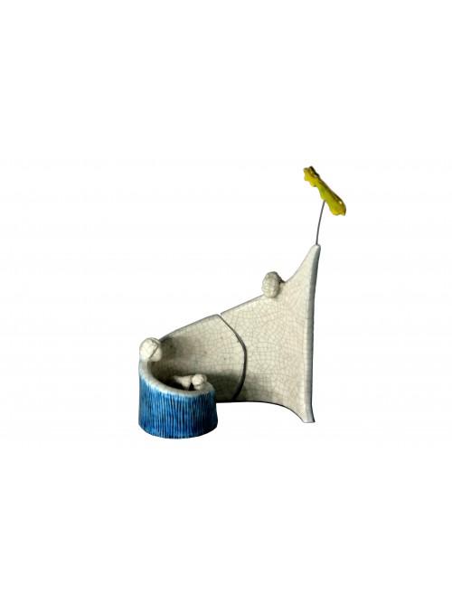 Presepe a spirale piccolo in maiolica