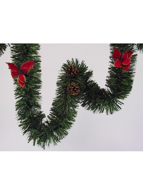 Wreath with stars and pine cones