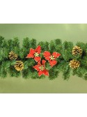 Pine branch wreath with stars and pine cones