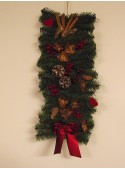 Garland with pine cones and berries
