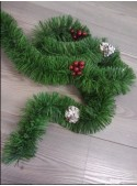 Wreath with pine cones and berries