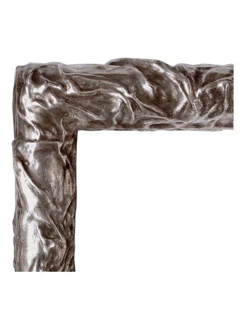 Cornice in legno Franco argento