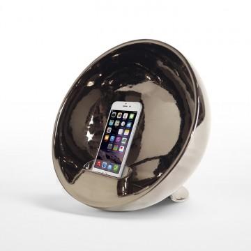 "Natural amplifier in ceramic - Emisphere ""silver"""