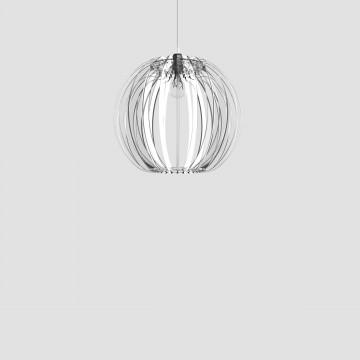Transparent plexiglass lamp - Sfera 40