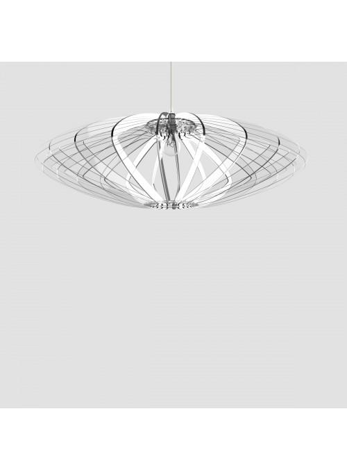 Lampada in plexiglass trasparente - Disco 88