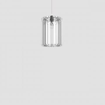 Transparent plexiglass lamp - Cilindro 30