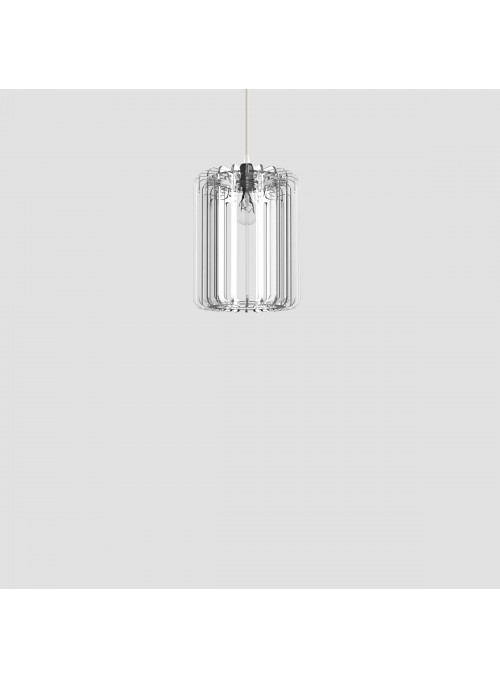 Lampada in plexiglass trasparente - Cilindro 30