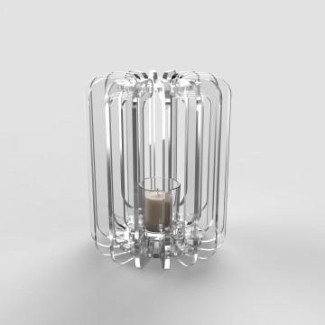 Transparent plexiglass lantern - Cilindro tlight