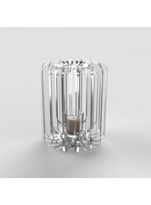 Lanterna in plexiglass trasparente - Cilindro tlight
