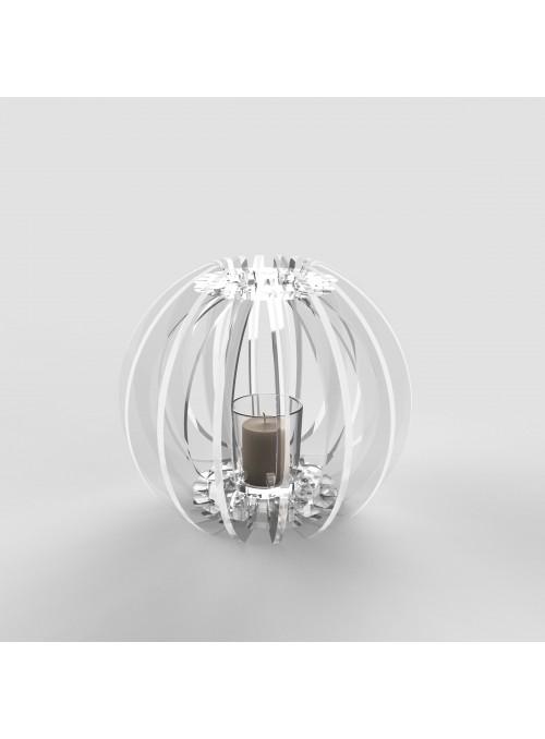Lanterna in plexiglass trasparente - Sfera tlight