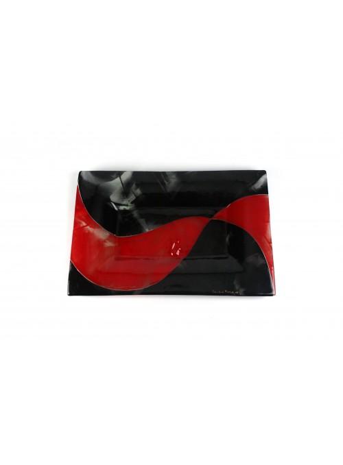 Piatto in vetro fusione rettangolare- Estrella