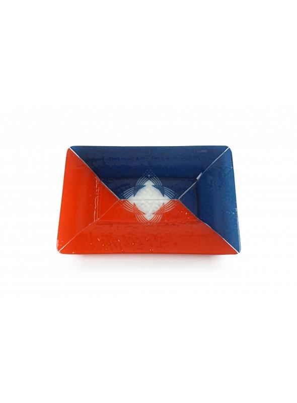 Piatto in vetro fusione rettangolare - Rombo