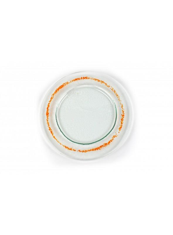 Piatto in vetro fusione rotondo - Eclissi