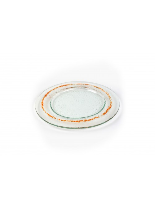 Rounded plate in fusion glass - Eclissi