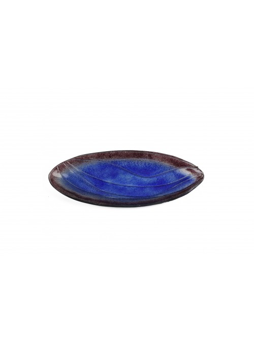 Oval tray in fusion glass - Abissi
