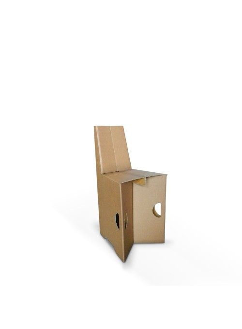 Sedia in cartone di ecodesign leggera e pieghevole - Paperina