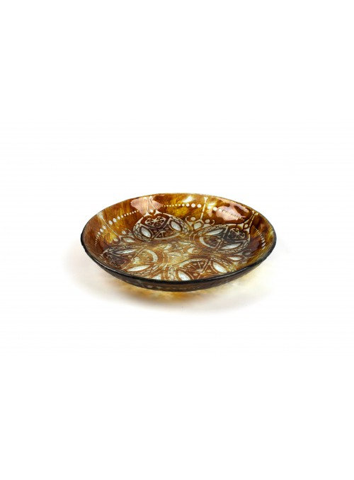 Rounded tray in fusion glass - Trasparenze