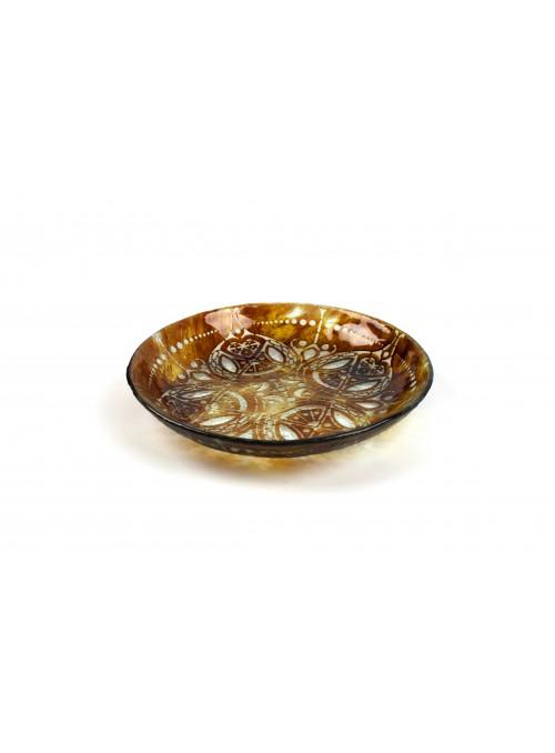Vassoio tondo in vetro fusione - Trasparenze