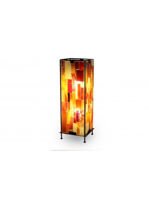 Lampada in vetro fusione e ferro - Totem