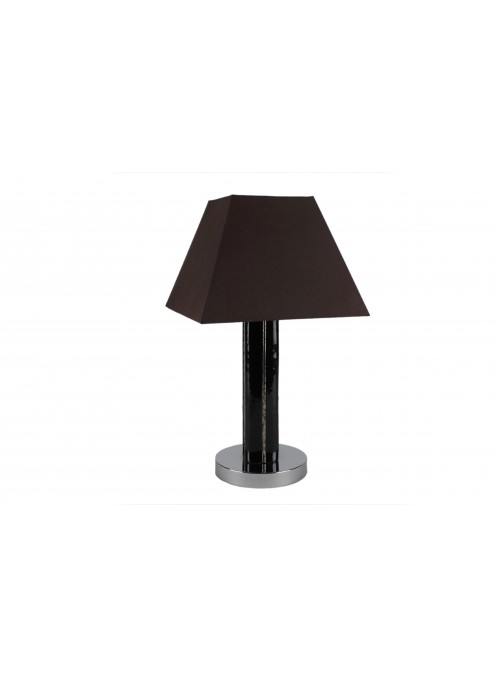 Table lamp in fusion glass in black