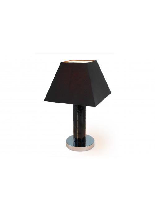 Lampada da tavolo in vetro fusione nera
