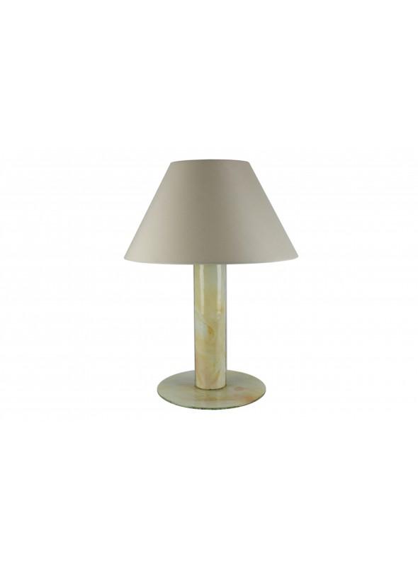 Lampada da tavolo in vetro fusione - Panna