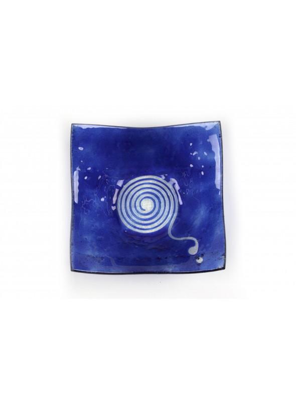 Squared plate in fusion glass - Cima