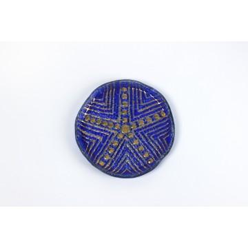 Piatto tondo in vetro fusione a mosaico - Pintadera
