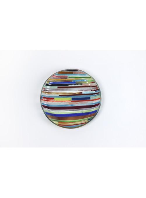 Vassoio tondo in vetro fusione - Colors