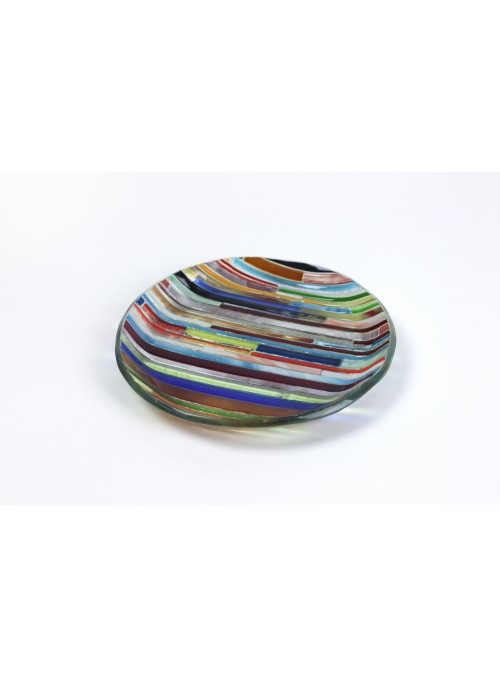 Rounded tray in fusion glass - Colors