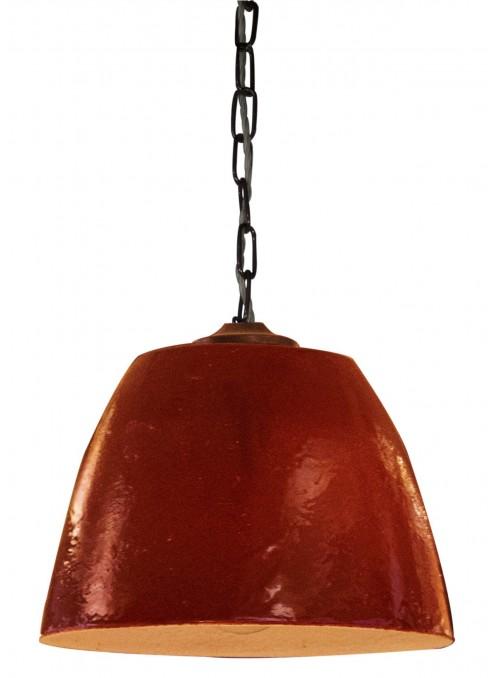Luce a campana in ceramica fatta a mano - Millefiori modello grande