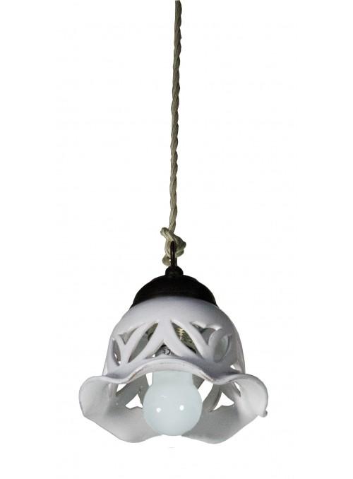 Handmade supension bell shaped ceramic lamp