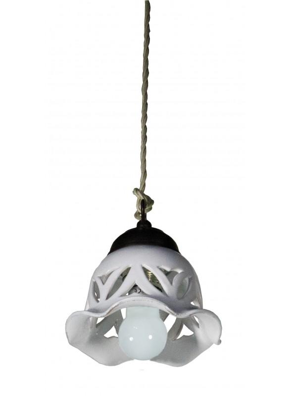 Luce a sospensione in ceramica a forma di campana