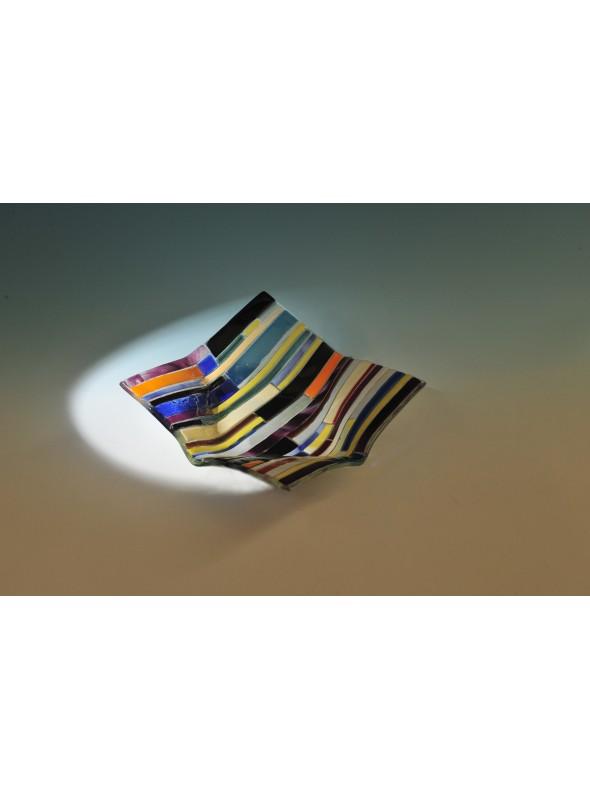 Piattino porta caramelle in vetro colorato - Regoli cestino