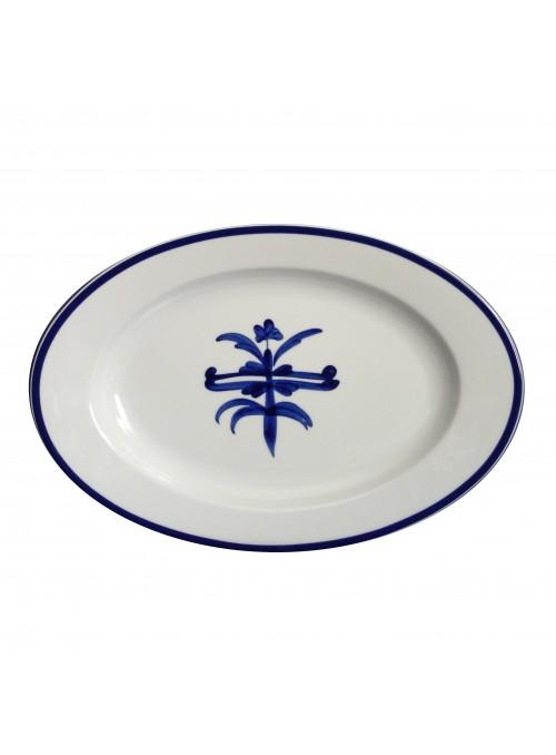 Piatto da portata in porcellana dipinta - Antico ragno ovale