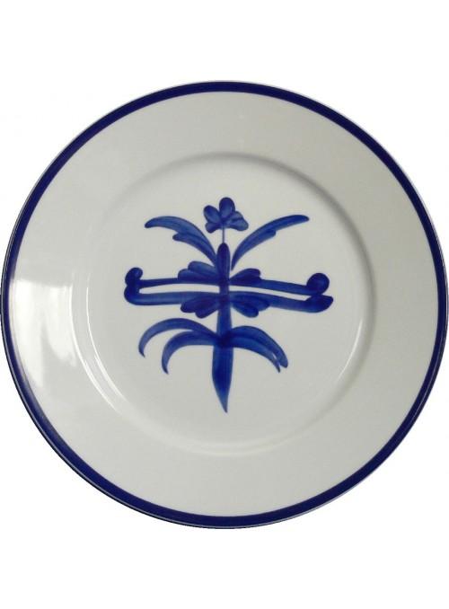 Piatto da portata in porcellana dipinta - Antico ragno rotondo