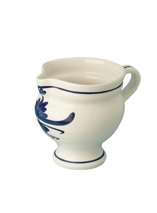 Amola in porcellana dipinta con decoro blu