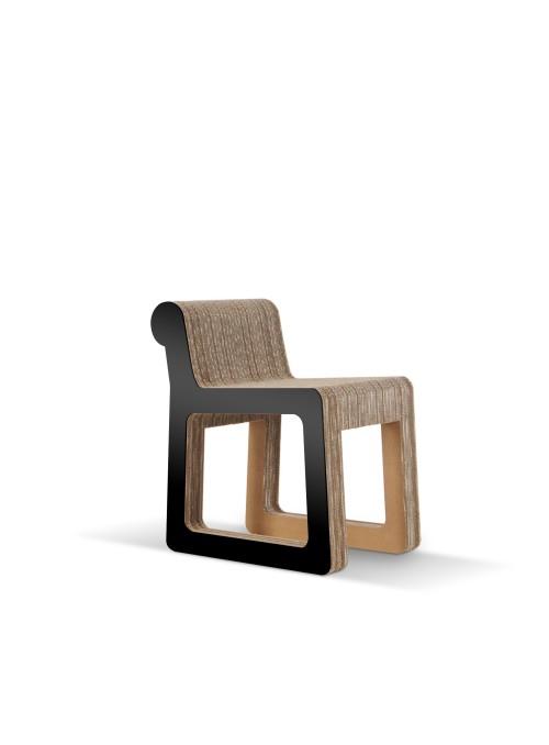 Sedia elegante di ecodesign in cartone - Knob