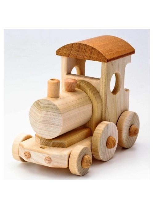 Locomotiva giocattolo in legno