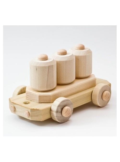 Vagone merci giocattolo in legno