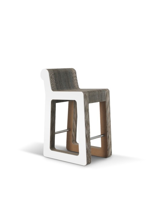 Sgabello elegante di ecodesign in cartone - Knob Stool