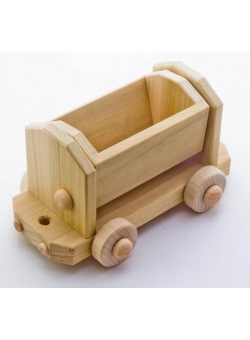 Vagone porta sabbia giocattolo in legno
