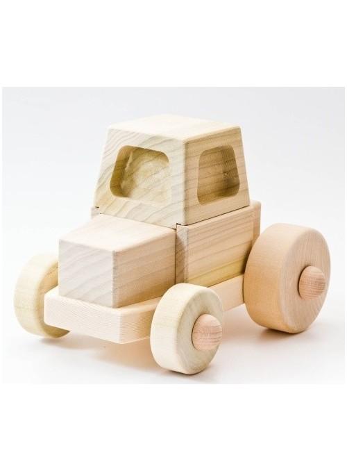 Trattore giocattolo in legno