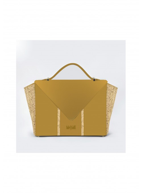 Small bag in nabuck and cork - Bighty Mustard & Cork