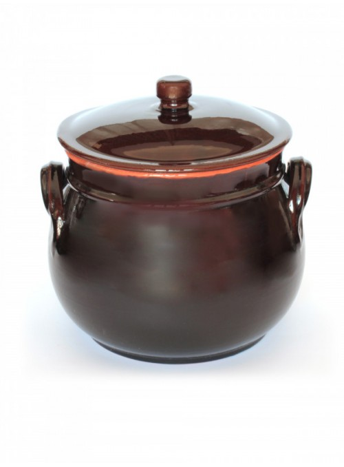 Clay brown fire pan