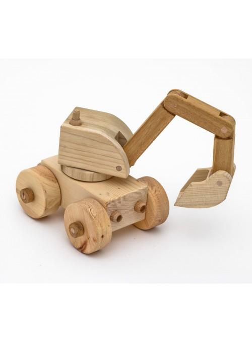 Escavatore Spid giocattolo in legno