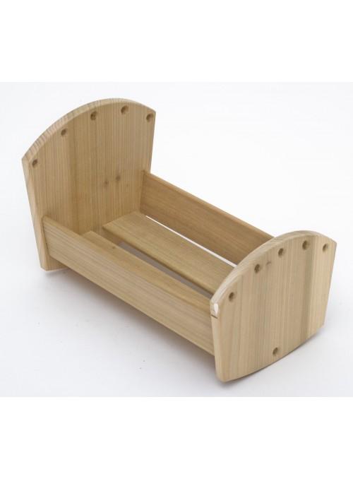 Culla giocattolo per la nanna, in legno