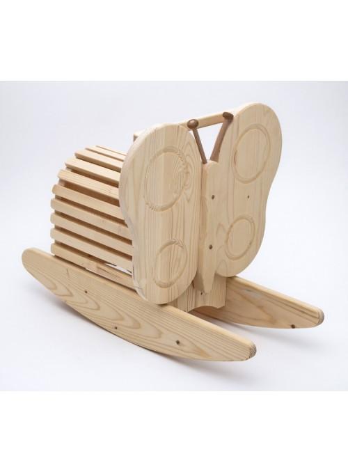 Dondolo giocattolo in legno - Lalla la farfalla