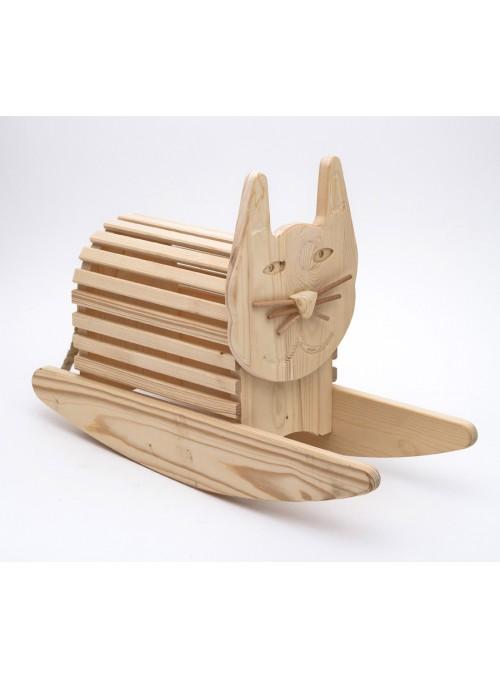 Dondolo giocattolo in legno - Il gatto caramella