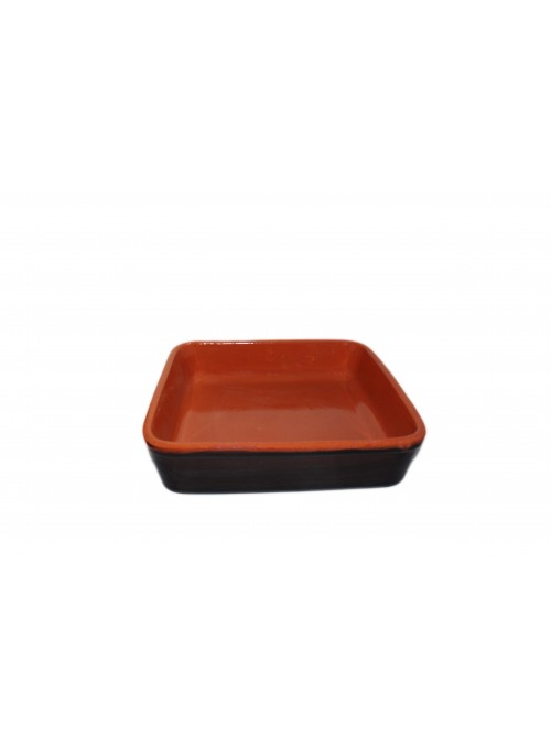 Squadred brown fire clay pan